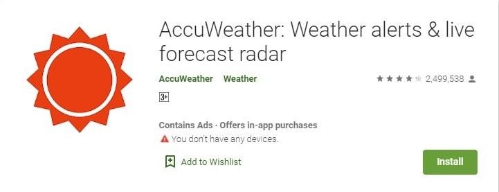 AccuWeather: Weather alerts & live forecast radar