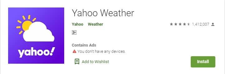 Yahoo Weather