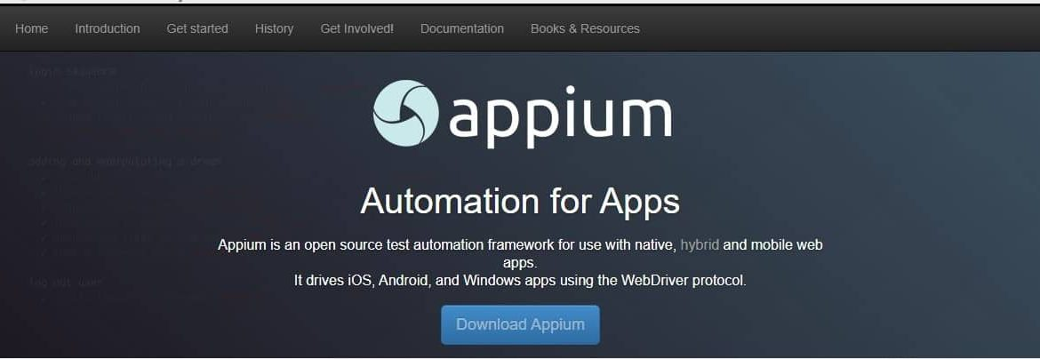 Appium Open Source Automation Testing Tool