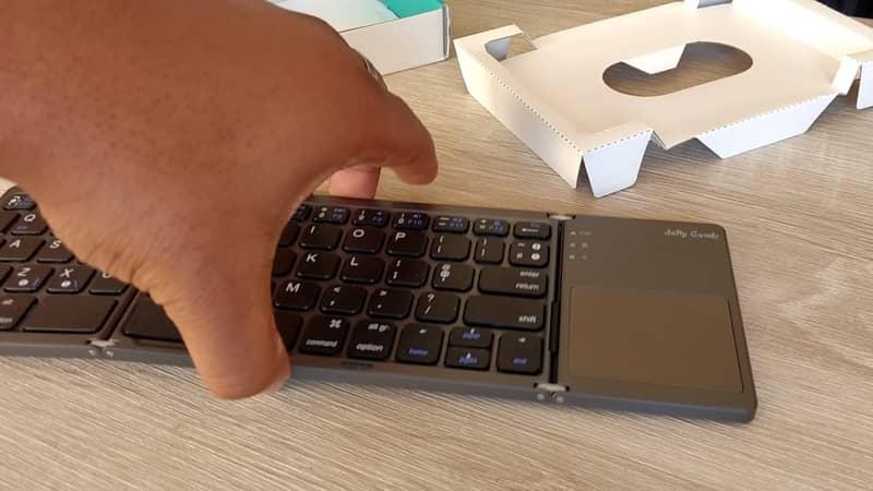 Jelly comb folding Bluetooth keyboard