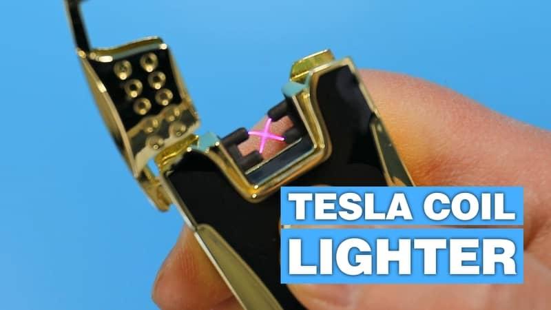 Tesla coil USB rechargeable lighter