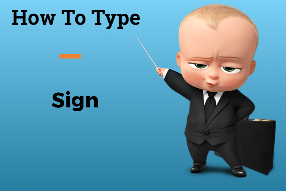 how to type an underscore sign